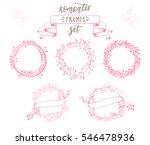 romantic vintage floral frames... | Shutterstock .eps vector #546478936