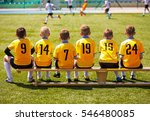 young football players. young... | Shutterstock . vector #546480085