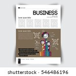 newspaper template  vector | Shutterstock .eps vector #546486196