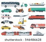 transportation icons set. city... | Shutterstock .eps vector #546486628