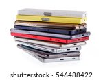 pile of mobile phone. heap of... | Shutterstock . vector #546488422