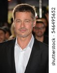 """Small photo of LOS ANGELES, CA. November 9, 2016: Actor Brad Pitt at a special fan screening for """"Allied"""" at the Regency Village Theatre, Westwood."""