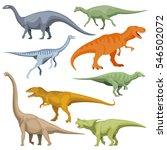 cartoon dinosaurus  reptiles... | Shutterstock .eps vector #546502072