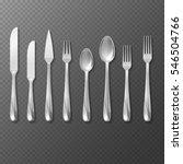 vector realistic cutlery set ... | Shutterstock .eps vector #546504766