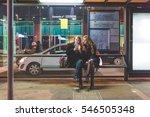 two young beautiful caucasian... | Shutterstock . vector #546505348