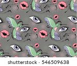 seamless floral pattern with...   Shutterstock .eps vector #546509638