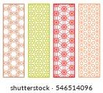 decorative lace borders... | Shutterstock .eps vector #546514096
