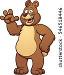 happy cartoon bear. vector clip ... | Shutterstock .eps vector #546518446
