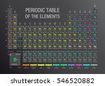 periodic table of the elements... | Shutterstock .eps vector #546520882