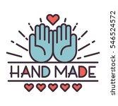 handmade needlework badge logo...   Shutterstock .eps vector #546524572