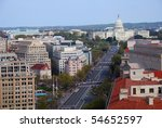 Washington Dc Aerial View With...