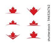 a set of vector maple leaves... | Shutterstock .eps vector #546526762