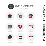 shopping simple icon set | Shutterstock .eps vector #546534046