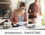 family budget and finances.... | Shutterstock . vector #546537382