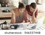 young married couple with many... | Shutterstock . vector #546537448