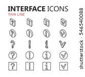 simple modern set of interface...
