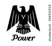 eagle isolated icon. vector... | Shutterstock .eps vector #546541918