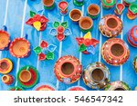 Colorful Potteries Made Of Cla...