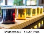 beer samplers in small glasses...   Shutterstock . vector #546547906
