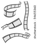 film strip roll set - stock vector