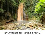 diamond waterfall in st. lucia...   Shutterstock . vector #546557542
