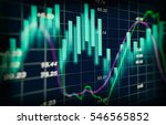 stock market or forex trading... | Shutterstock . vector #546565852