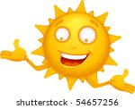 vector  cartoon sun characters 1 | Shutterstock .eps vector #54657256