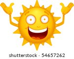 vector  cartoon sun characters 3 | Shutterstock .eps vector #54657262