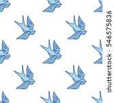 seamless doodle pattern.... | Shutterstock .eps vector #546575836