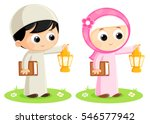boy and girl are carrying...   Shutterstock .eps vector #546577942