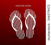 flip flops icon vector... | Shutterstock .eps vector #546579472
