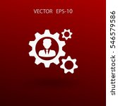team work icon. vector... | Shutterstock .eps vector #546579586