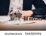 close up of business man hand... | Shutterstock . vector #546585496