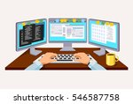 person working at the computer.  | Shutterstock . vector #546587758