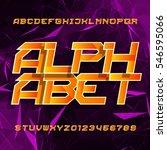 futuristic alphabet vector font....   Shutterstock .eps vector #546595066