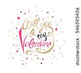 vector valentines day hand... | Shutterstock .eps vector #546595456