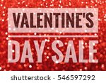 valentine's day sale sign on... | Shutterstock . vector #546597292