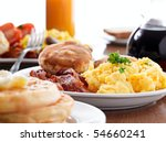 huge breakfast | Shutterstock . vector #54660241