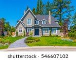 big custom made luxury house... | Shutterstock . vector #546607102