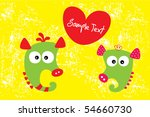 happy seahorse love couple | Shutterstock .eps vector #54660730