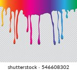 colorful paint dripping.paint... | Shutterstock .eps vector #546608302