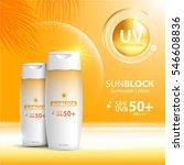 sunblock ads template  sun... | Shutterstock .eps vector #546608836