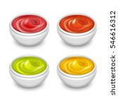 different gourmet sauces ... | Shutterstock .eps vector #546616312
