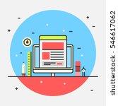 flat web design icon for... | Shutterstock .eps vector #546617062