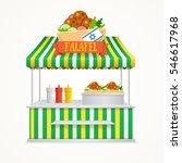 falafel street market. fast...   Shutterstock . vector #546617968
