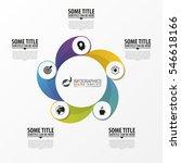 business infographics. circular ... | Shutterstock .eps vector #546618166