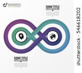 infographic design concept. two ... | Shutterstock .eps vector #546618202