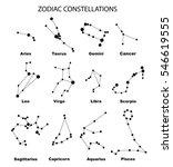 vector. black constellations of ... | Shutterstock .eps vector #546619555