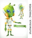 alien in spacesuit. funny...   Shutterstock .eps vector #546624406
