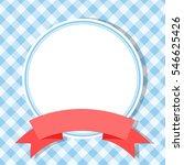 blue frame for invitation card... | Shutterstock .eps vector #546625426
